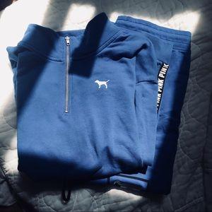 Victorias Secret PINK Blue Matching Set